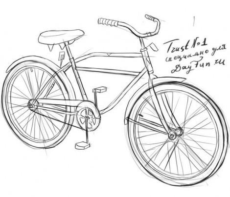 как нарисовать мотоцикл поэтапно - Всемирная схемотехника.