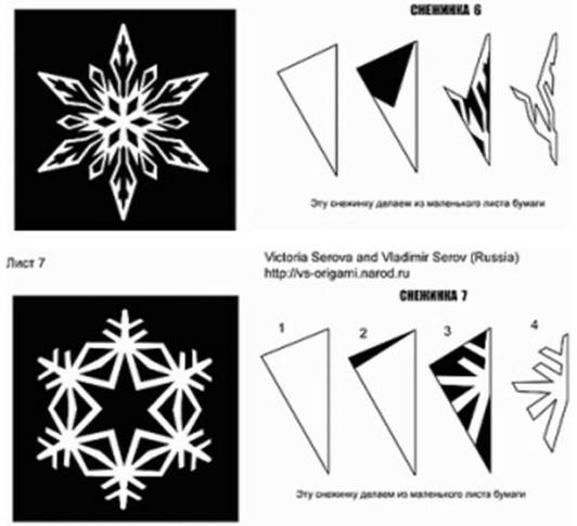 Снежинки из бумаги своими руками легкие и красивые