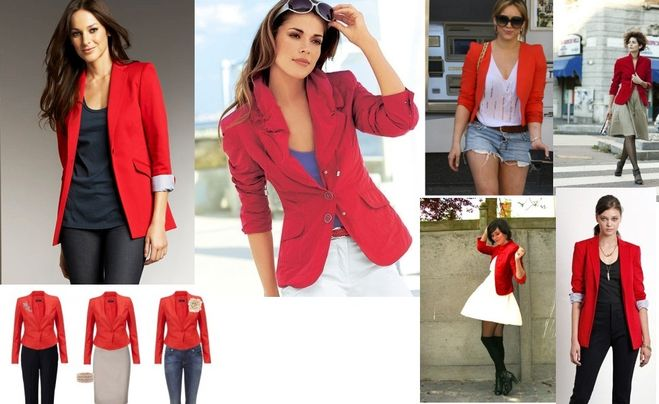 Платья с красным пиджаком