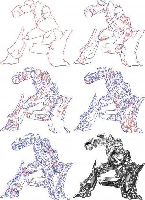 Схема как рисовать дракона