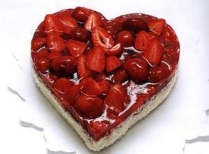Торт в форме сердца своими руками