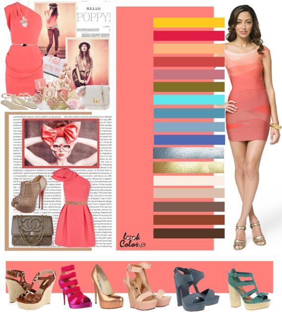 Сочетание цвета персиково розовый