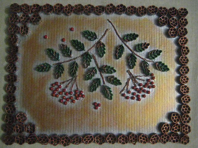 Панно из макаронных изделий своими руками