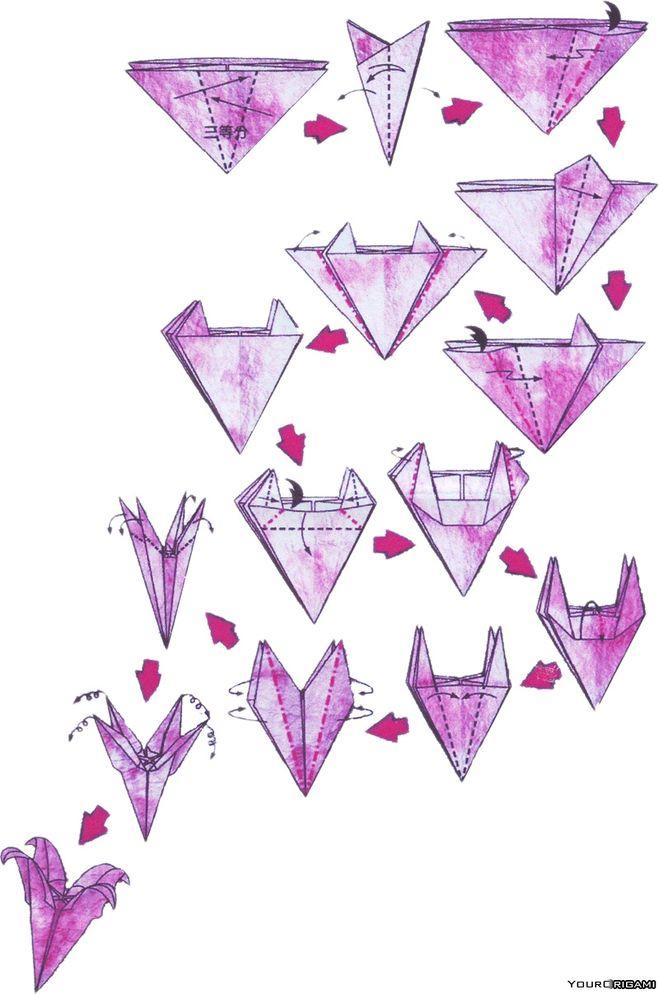 Как сделать лилии из бумаги своими руками схемы