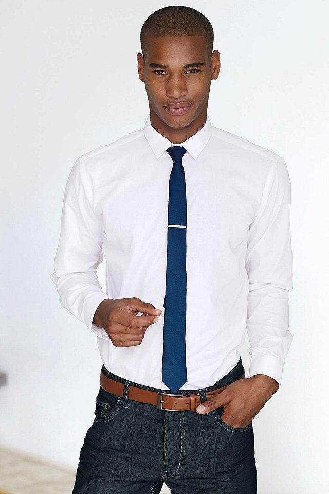 рубашка с галстуком фото