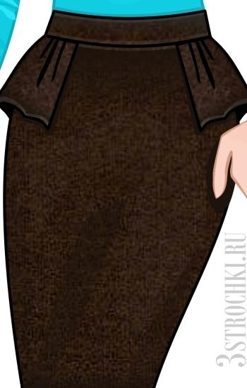 Юбка с баской выкройка - Выкройки одежды