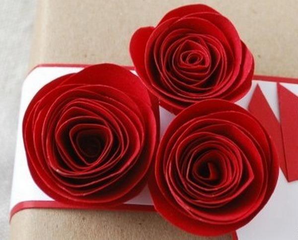 Как сделать розу своими руками из бумаги фото