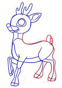 как рисовать оленя 5