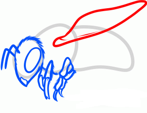 нарисовать пчелу 5