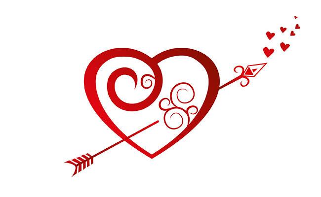 красивый рисунок сердечками