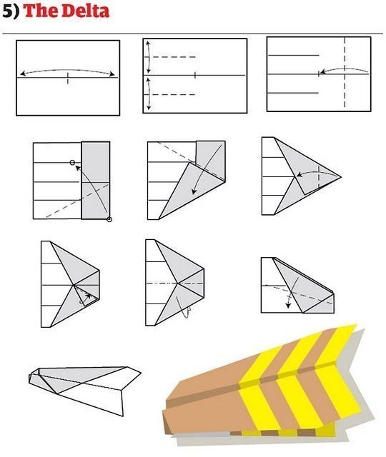 Способы как сделать самолетик из бумаги