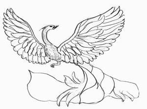 Рисунок жар птица раскраска