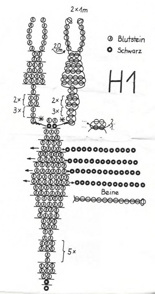 Как сделать скорпион из бисера схемы