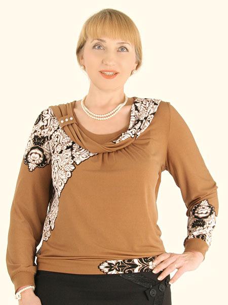 Модные блузки для полных женщин доставка