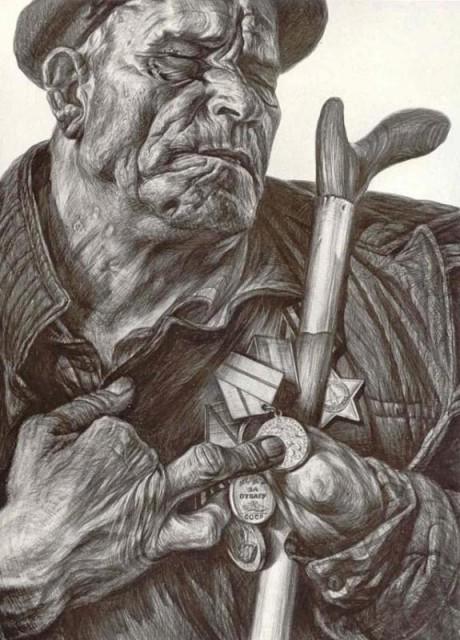 Нарисовать пожилого человека поэтапно