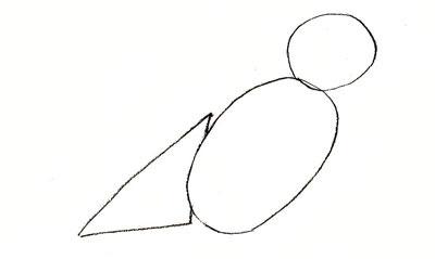 нарисовать воробья