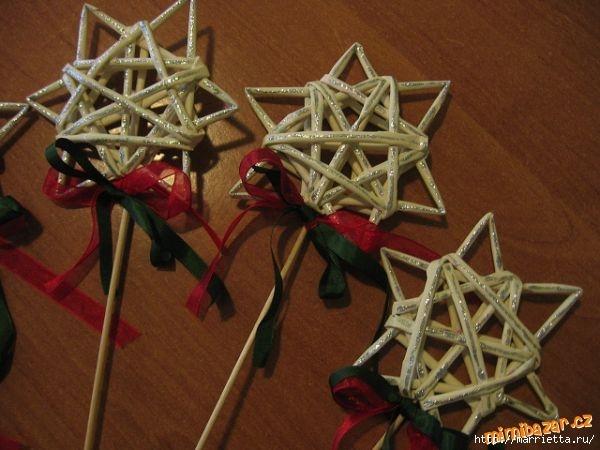Сделать вифлеемскую звезду своими руками из веток