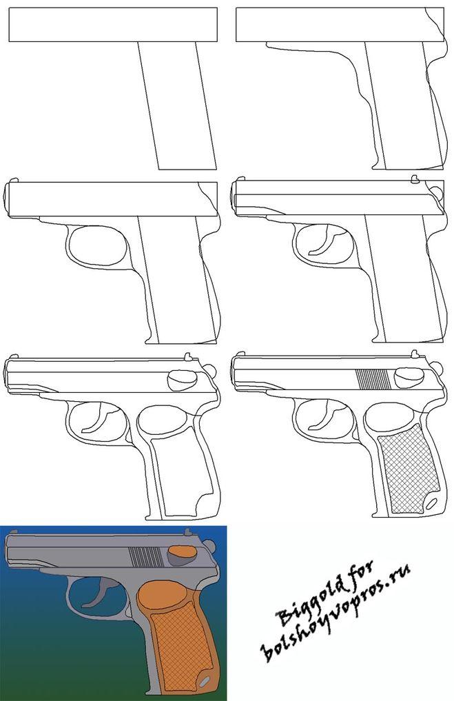 Как нарисовать оружие из кс го карандашом поэтапно - h карту для турнира кс го
