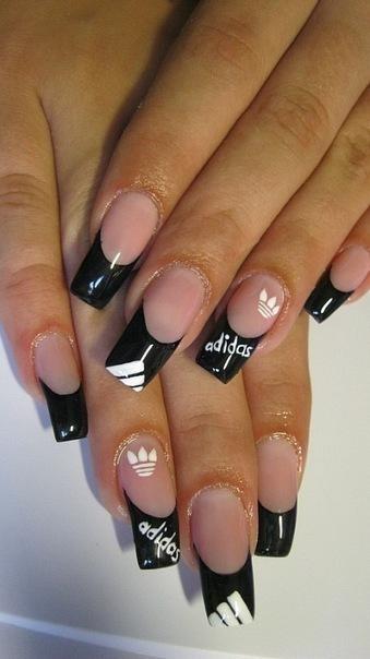 Дизайн ногтей «Адидас» Красивые ногти - дополнение твоего образа