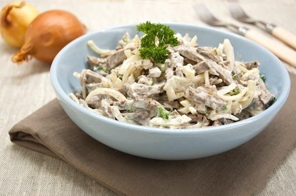 Салат со свиного сердца рецепт