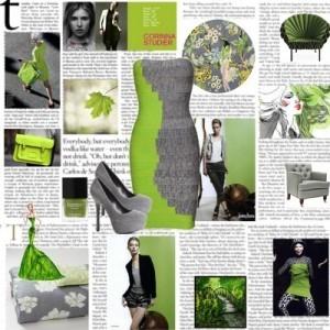 Один из интересных комплектов создается при сочетании серого и зеленого.  К серому не подбирают яркие зеленые оттенки...