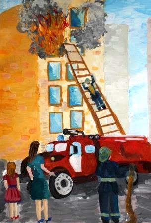 Нарисованные изображения горящего