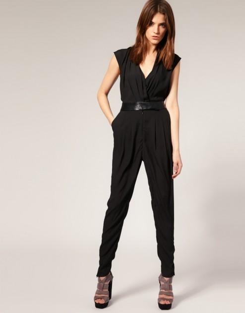 Комбинезоны женские черные с чем носить