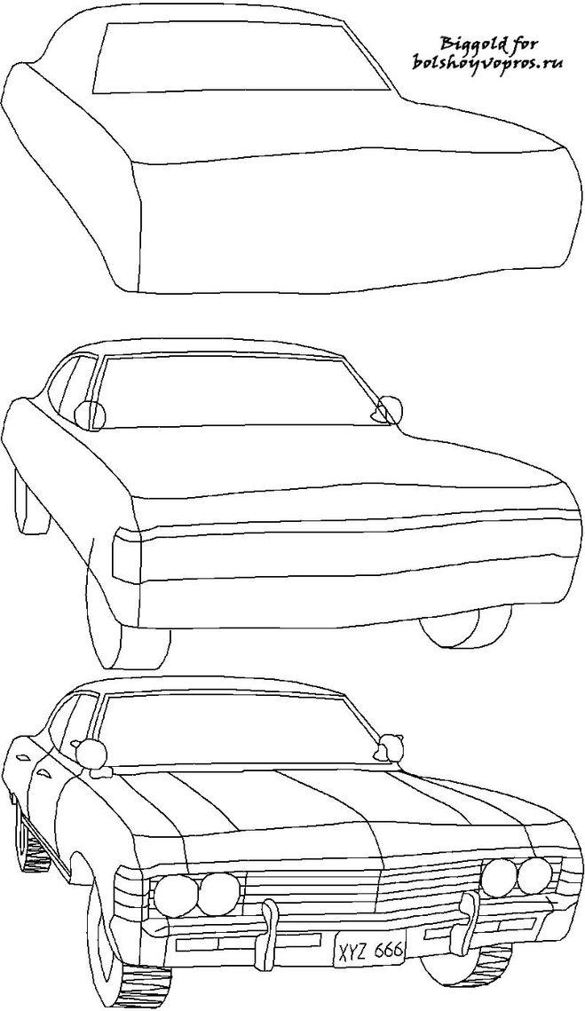 chevrolet impala 1967 рисунок