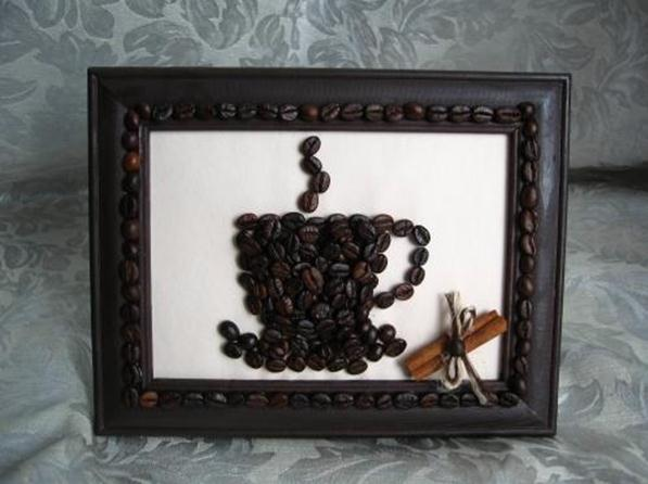 Видео как сделать картину из кофейных зерен своими руками