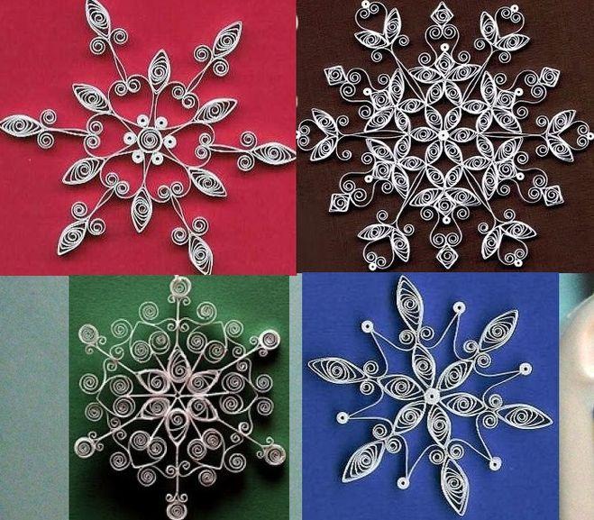 Как сделать снежинки из материала