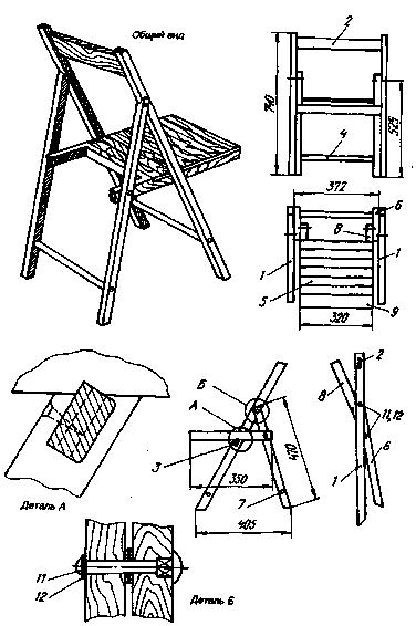 Схема сборки стула кьявари