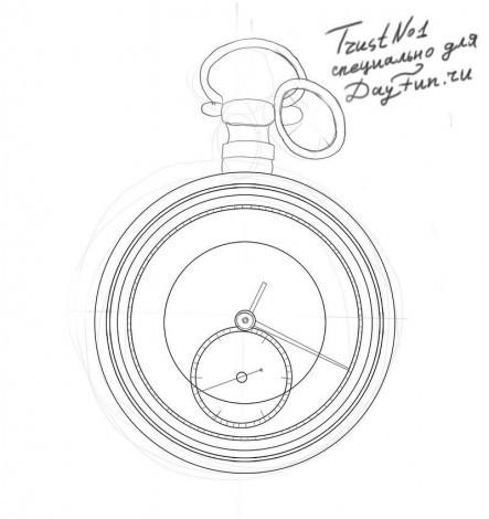 нарисовать часы