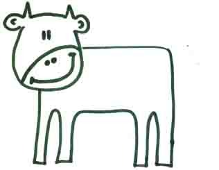как рисовать корову 3