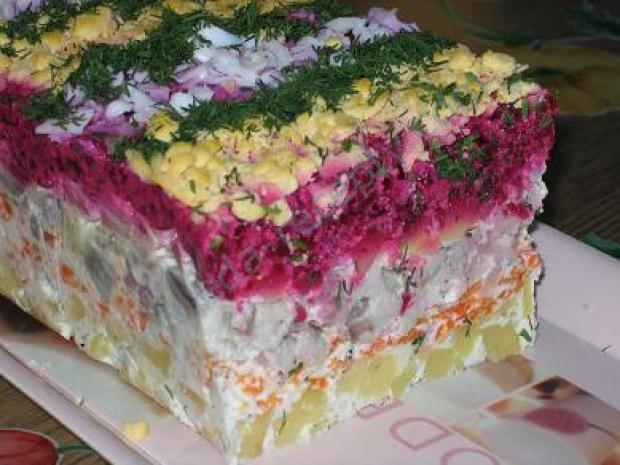 Рецепт салата сельдь под шубой фото
