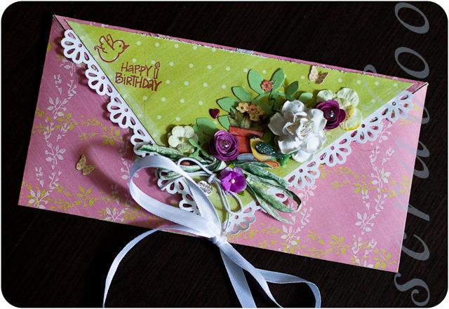 Конверт с днем рождения женщине своими руками