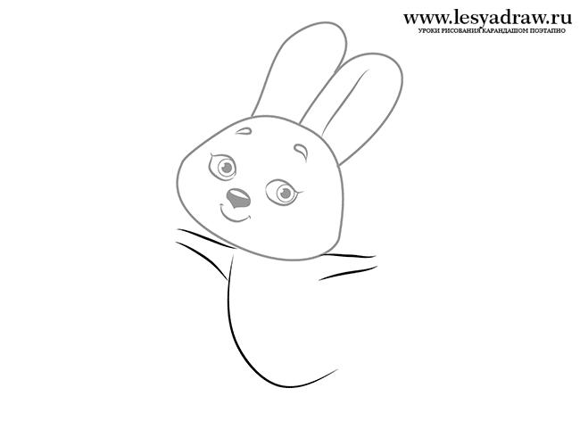 Как рисовать карандашом зайцев