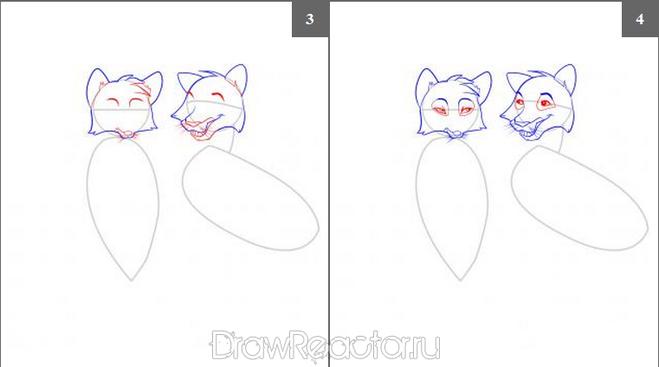 Как легко и красиво нарисовать лису поэтапно