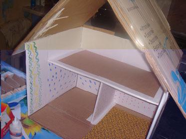Как сделать дом из двп 248