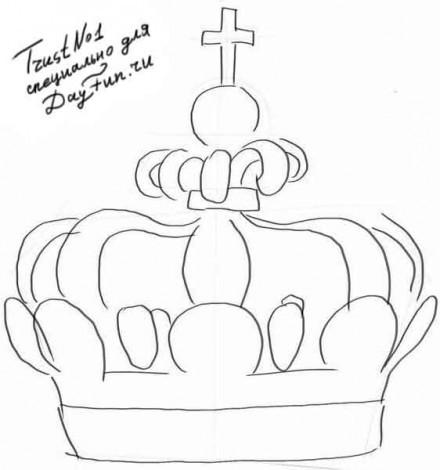 Корона рисунок поэтапно