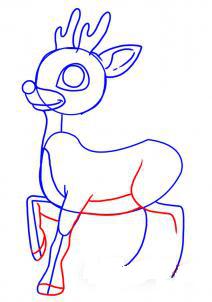 как рисовать оленя 4