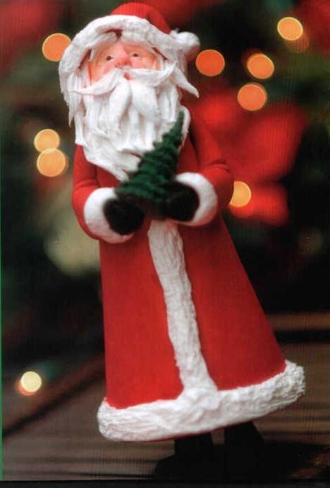 Дед мороз из мастики своими руками