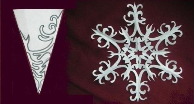 Схема снежинок своими руками 829