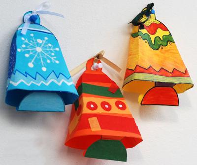 Новогодние игрушки сделать своими руками из бумаги