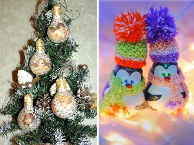 Новогодние игрушки на елку своими руками видео