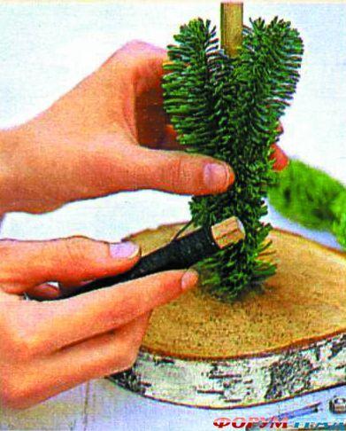 Сделать елочку своими руками из веток