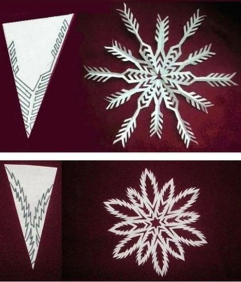 Как сделать новогоднюю снежинку из бумаги фото
