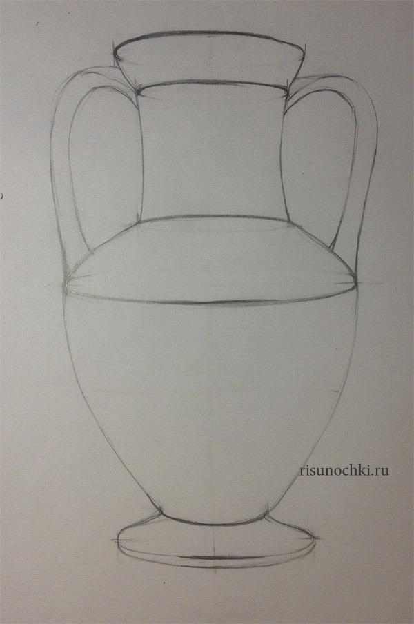 Как рисовать вазы фото