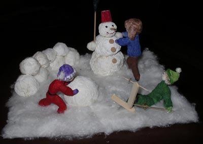 Зимняя поделка для детского сада своими руками фото