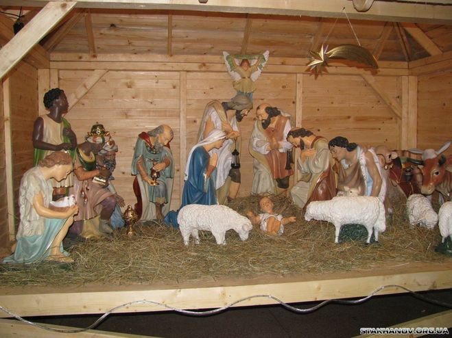 Рождественский вертеп из пластилина