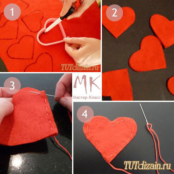 Как из ваты сделать сердце из